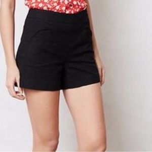 Anthropologie Cartonnier High Rise Black Shorts